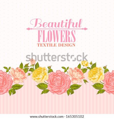 rose frame invitation card