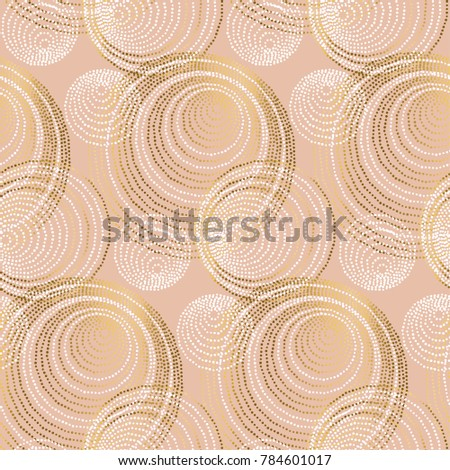 rose gold abstract geometry luxury style seamless pattern.  elegant chic vector illustration for surface design, fabric, wrapping paper.