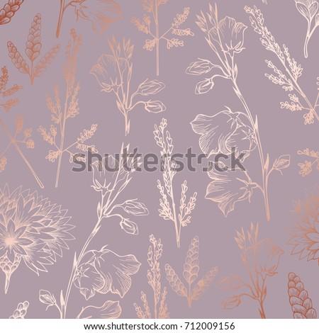 rose gold elegant decorative