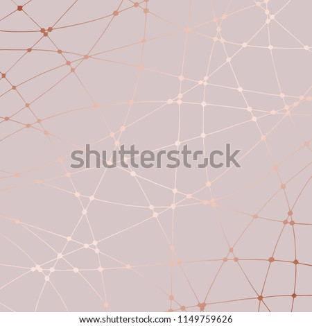 Rose gold. Hand drawing. Abstract decorative background with imitation of rose gold