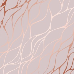 Rose gold. Rose marble. Decorative vector pattern. Background for printing, design of cards, surfaces, covers and other