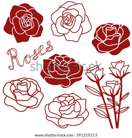 stock-vector-rose-hand-drawn-clip-art-background-icons