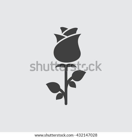rose icon  rose icon eps10