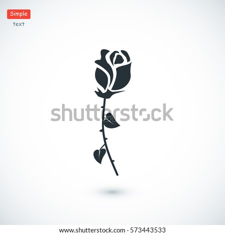 rose icon  vector best flat