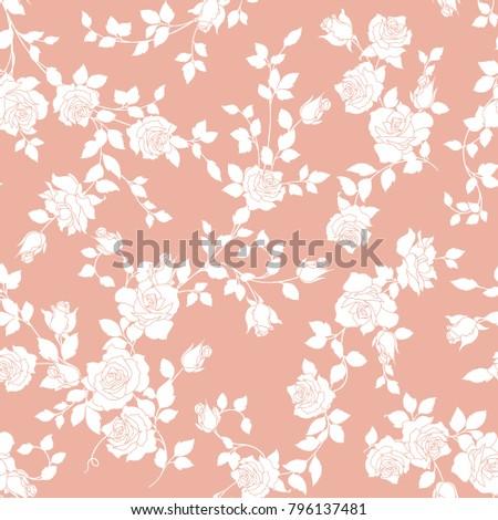 Rose illustration pattern.