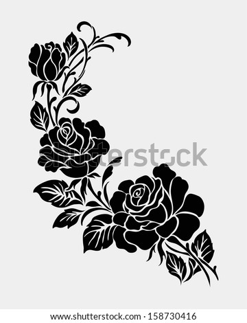 Rose MotifFlower Design Elements Vector