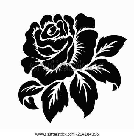 Rose flower vector background black and white download free vector rose motifflower design elements vector mightylinksfo