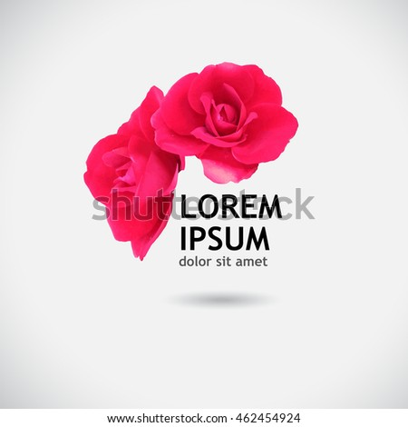 rose object logo vector