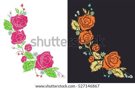 rose patches set  flower