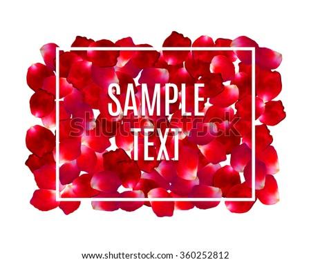 rose petals border frame with