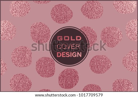 rose quartz glossy background metallic texture gold pink metal trendy template for new