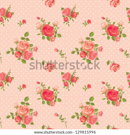 Rose romantic pink seamless pattern