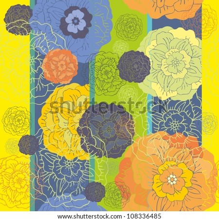 rose seamless wallpaper pattern - stock vector
