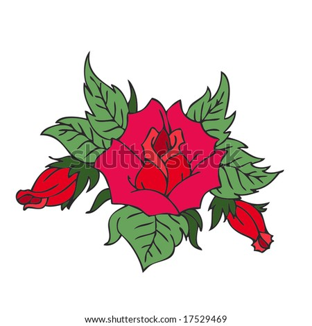 Rose Tattoo. art. artistic. artwork