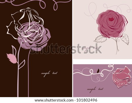 Roses cards collection