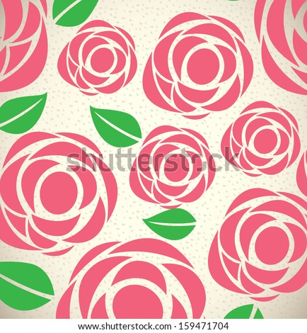 Roses Floral Background Roses Design Over Floral