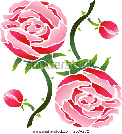 Roses Pattern (Vector)