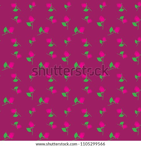 stock-vector-roses-seamless-geometric-background-pattern-for-continuous-replicate-on-magenta-background-can