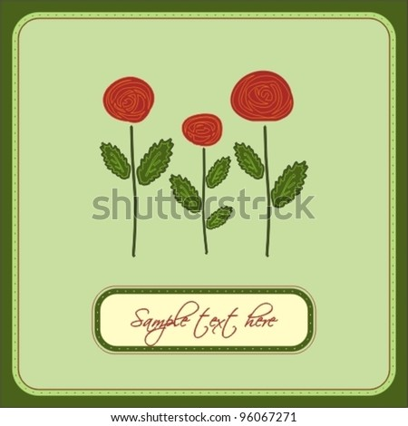 Roses. Vector greeting card