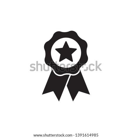 Rosette icon design concept, flat style illustration Stockfoto ©