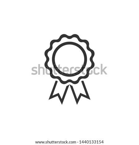 Rosette Medals Icon Vector Design Illustration Stockfoto ©