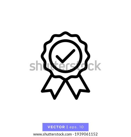Rosette Stamp Icon Vector Design Template. Editable Stroke.