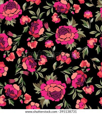 rosie pink spanish floral print seamless background