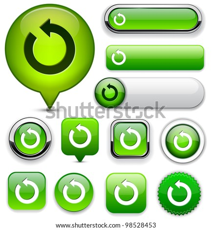 Rotate green design elements for website or app. Vector eps10.
