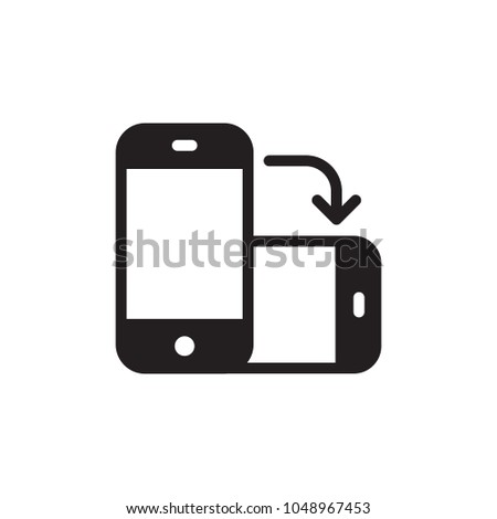 rotate phone, change screen orientation filled vector icon. Modern simple isolated sign. Pixel perfect vector  illustration for logo, website, mobile app and other designs