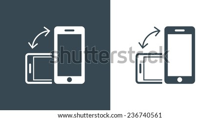 Rotate Smartphone or Cellular Phone Icons Set in Vector