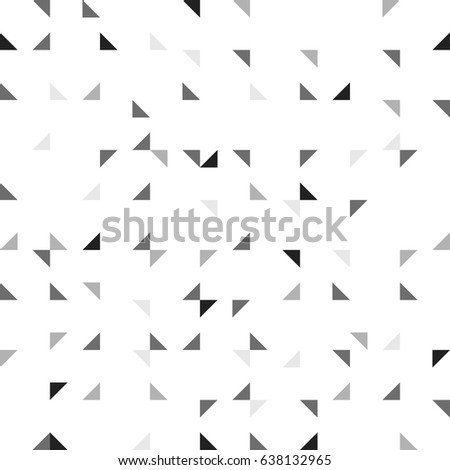 ROTATE TRIANGLE IN SQUARE GRID. SEAMLESS GEOMETRIC PATTERN VECTOR