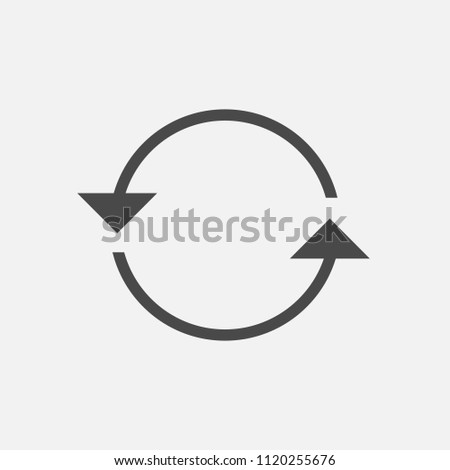 Rotating arrows anti clock wise vector icon for syncing and recycle icon eps10