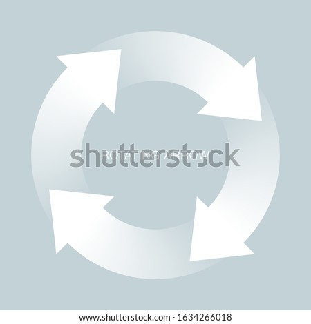 Rotating Arrows. Symbol Graphics. Recycle Image. Four-stage process. PDCA cycle. Stock photo ©