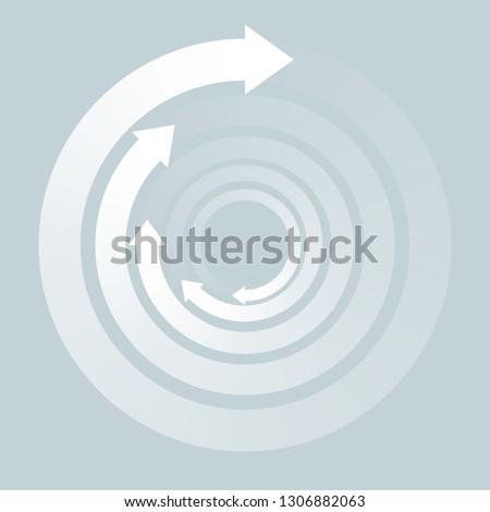 Rotating Arrows, Symbol Graphics,Whirlpool image,