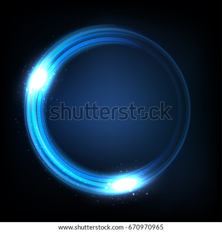rotating blue light shiny