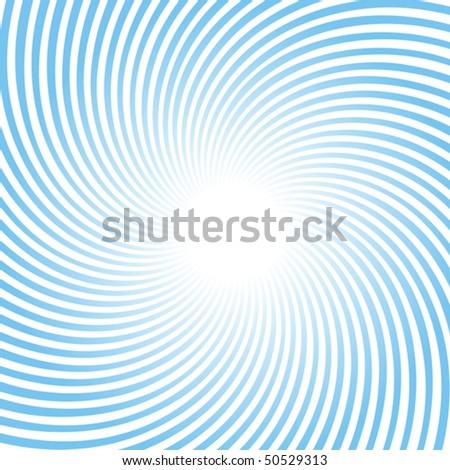 Rotating blue radiant background