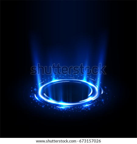 rotating blue rays with