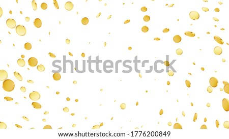 Rotating coins background. Casino jackpot or win concept. Cash fly on black isolated background. Golden money falling. Gambling game jackpot. Vector illustration Photo stock ©