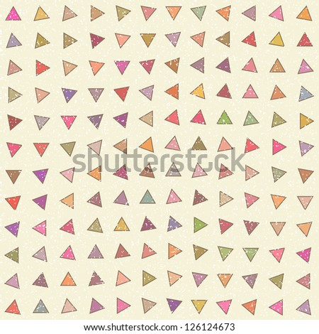 Rotating color triangles seamless vector background