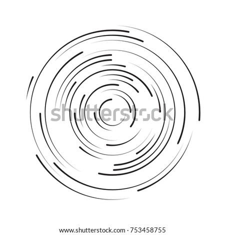 Rotating in a circle line. Abstract background. Vector illustration