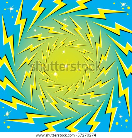 Rotating Lightning Bolts (motion illusion)