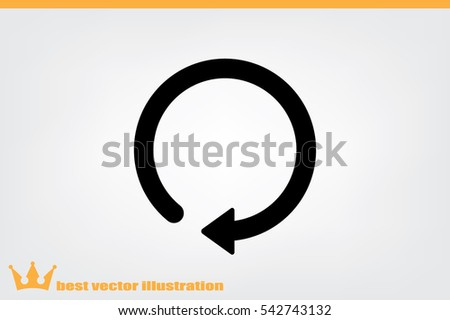 rotation arrow icon vector EPS 10, abstract sign circular motion process flat design,  illustration modern isolated badge for infographic, website or app.