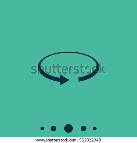 Rotation arrow vector icon.