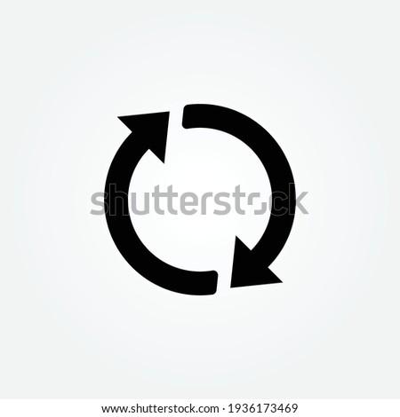 Rotation arrows icon design vector  ストックフォト ©