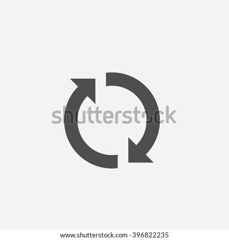 Rotation arrows Icon Vector.
