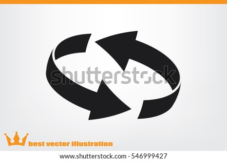 Rotation arrows icon vector illustration. #546999427