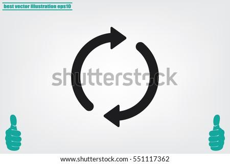Rotation arrows icon vector illustration.