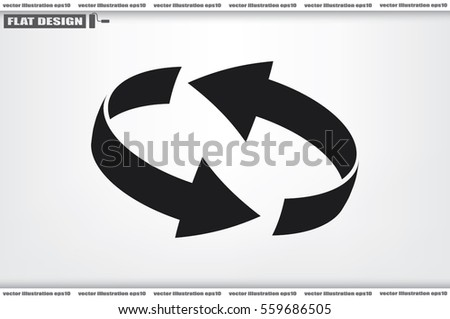 Rotation arrows icon vector illustration. #559686505
