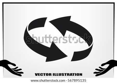 Rotation arrows icon vector illustration. #567895135