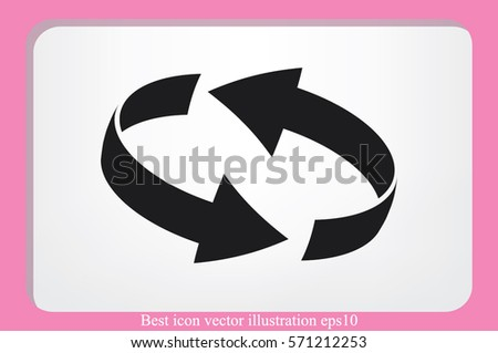 Rotation arrows icon vector illustration . #571212253